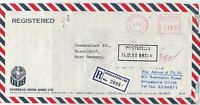 Singapore 1980 Overseas Union Bank Ltd Airmail Regd Meter Mail Stamp Cover 29975
