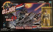 Gi Joe Rock Slide Skidoo With Frostbite 3 3/4 Action Figure Package Hasbro 2002