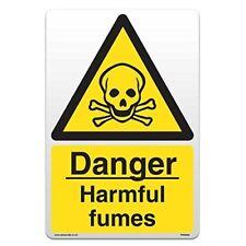 Danger Harmful Fumes - Self Adhesive Vinyl Sticker [A4 - 210mm x 297mm]