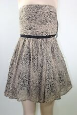 100% AUTHENTIC GUESS DRESS STRAPLESS CHETAH PRINT SZ XS Beige & Black Sexi
