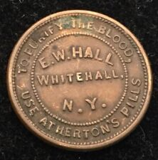 Athertons Wild Cherry Syrup, E.W. Hall, Civil War Token #
