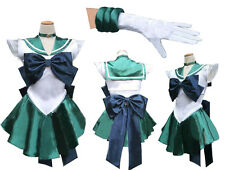 Sailor Moon Sailormoon Neptune Michelle Cosplay Costume + glove + Tiara UK