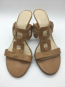 Gino Pucci Tan Wedge Cork Heels Size 7 - excellent condition - slides