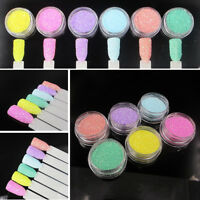 6 Colors/set Super Fine Glitter Dust Powder 3D DIY Nail Art Pastel Decoration