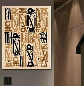 Retna Canvas Print, Gold/Black, 28x42, New