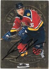 Autograph Jesse Belanger 1994-1995 Fleer Ultra Hockey Card Florida Panthers