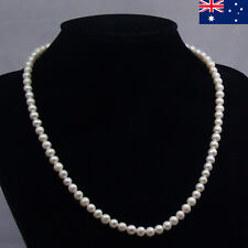 Freshwater Pearl Necklace & Earrings Sets White With Gift Bag