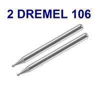 "2 New Dremel Authentic # 106 Engraving Cutter Bit 1/8"", 3.2mm Shank, 1/16"" Head"