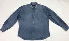 Mastal ferretti camicia jeans uomo usato XL uomo casual lunga blu denim T3534