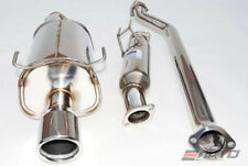 INVIDIA Q300 110mm Rolled Stainless Tip Catback Exhaust for RSX Type S 02-06 K20