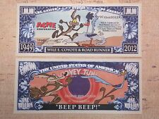 Wile E. COYOTE & ROAD RUNNER Cartoon Characters ~ $1,000,000 One Million Dollars