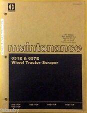 Caterpillar Maintenance Manual 651E & 657E Wheel Tractor-Scraper