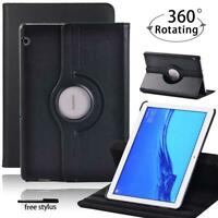 """Leather 360°Rotating Stand Case Cover For Huawei MediaPad T3 10 9.6""""/ T5 10 10.1"""
