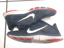 Nike Mens Free Run Trainer 5.0 Navy Blue, Red, and White 10 (USA)