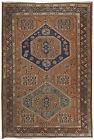 Antique Soumak  Rug, Circa 1920 (5' x 7')