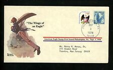 "Commemorative Cover Norman Rockwell #C48 American Eagle ""The Wings of an Eagle"""
