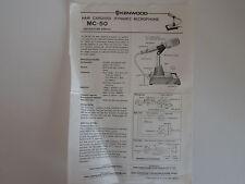 Kenwood MC-50 (sólo Genuino prospecto)... radio _ trader _ Irlanda.