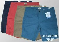 "Genuine Levi DOCKERS Men's Shorts Cotton Blend SLIM Fit Shorts 9"" W32""-40"" BNWT"