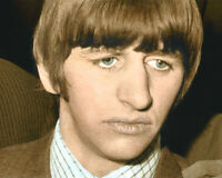 "RINGO STARR RICHARD STARKEY THE BEATLES 8x10"" HAND COLOR TINTED PHOTOGRAPH"