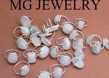 500 Pcs Lot Natural Rainbow Moonstone Gemstone 925 Silver Plated Bezel Rings