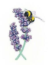 HERITAGE CRAFTS LAVENDER BEE COUNTED CROSS STITCH KIT PETER UNDERHILL NEW