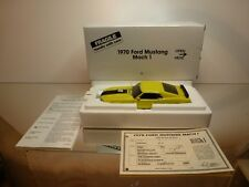 DANBURY MINT FORD MUSTANG MACH 1 - YELLOW 1:24 RARE - EXCELLENT IN BOX