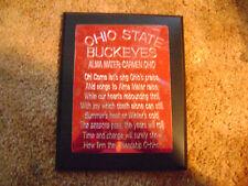 "Ohio State Buckeyes Carmen Ohio Alma Mater Plaque ""Big Nut Has One Of These!"""