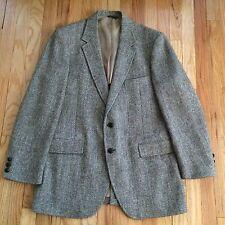Harris Tweed Men's Blazer Wool Jacket Vintage  Sz 40 Brown Tan