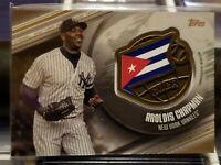 2020 Topps Series 1 AROLDIS CHAPMAN Global Game New York Yankees Cuba Black /50