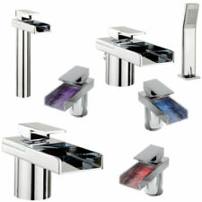 Chrome Monobloc Mixer Square Bathroom Taps