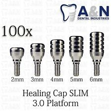 100 Regular Healing Cap for Slim 3.0 mm platform  dental Implant Free Ship