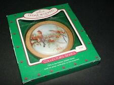 CEDAR WAXWING bird - 1986 Hallmark Christmas ornament - 5th Holiday Wildlife
