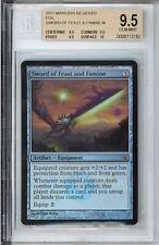 Foil Sword of Feast and Famine -- Mirrodin Besieged -- BGS 9.5 -- MTG Magic