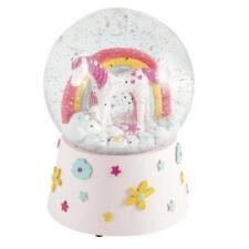 Floss & Rock Large Kids Unicorn Shatterproof Musical Glitter Snow Globe Gift