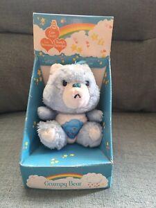 "RARE Vintage 1980s Care Bears Grumpy Bear BOXED 6""Plush"