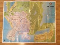 Grand Theft Auto V (GTA 5) Los Santos & Blaine Country Double Sided Map PS3 PS4