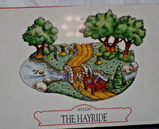 "UNOPENED LIBERTY FALLS ""THE HAYRIDE"" AH200 CHRISTMAS WESTERN SNOW VILLAGE FIGURE"