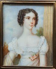 (B020) Miniatur Portrait einer jungen Dame, Gouache, sign. Engleheart, um 1810