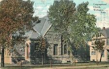 Wellington Corner Arch Doors~House by Stone Congregational Church~1910 Postcard