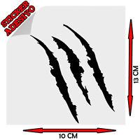 Sticker Adesivo Decal Graffio Graffi Artigli Artiglio Claw Auto Moto Casco