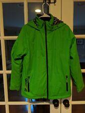 Burton Snowboard / Ski Hooded Dryride Jacket Coat Boys green Size Large 14-16