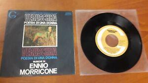 """Ennio Morricone Colonna sonora del film """"Veruschka"""" 45 giri"""