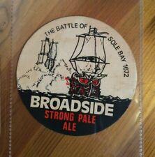 Adnams Broadside battle of sole bay round beer mat