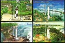 Sri Lanka 2018 Lighthouses set of 4 S/S MNH, Thailand Overprint, phare