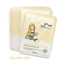 10pcs Esfolio Pure Skin Pearl Essence Mask Sheet 25ml Korean Cosmetics