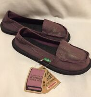 Sanuk Yoga Mat Slip On Sandal Shoes Purple Metallic Womens 5 NWT Ohm My Surfer