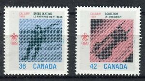 s7666) CANADA 1986 MNH** Winter Olympic Games 2v