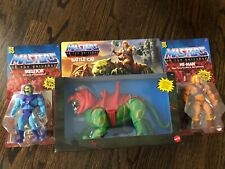 2020 Masters of the Universe MOTU Origins Set of 3 He-Man Skeletor Battle Cat