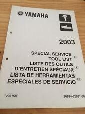 Yamaha moteur hors bord liste outillage tool list revue technique manuel 2003