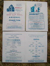 1943 F.A. League cup final programme Arsenal v Charlton Athletic Mint condition.